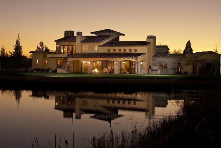 Adobe home was taken at twilight
